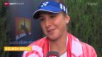 Video «Tennis: Martina Hingis und Belinda Bencic im Doppel» abspielen