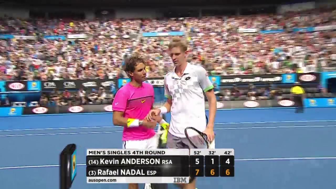 Tennis: Australian Open, Achtelfinal, Highlights Nadal - Anderson