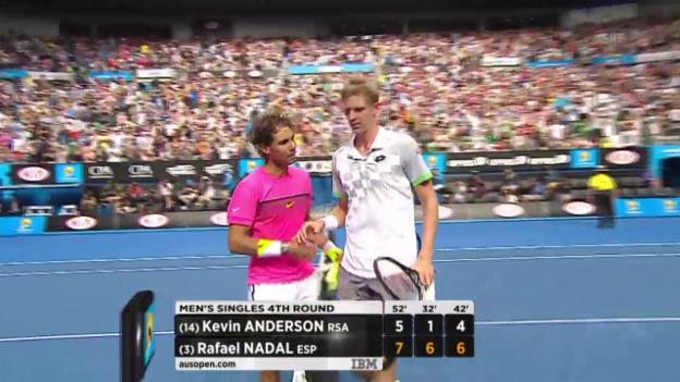Video «Tennis: Australian Open, Achtelfinal, Highlights Nadal - Anderson» abspielen