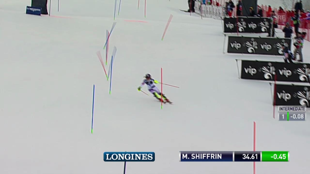 Ski: Weltcup, Slalom Frauen 1. Lauf Zusammenfassung