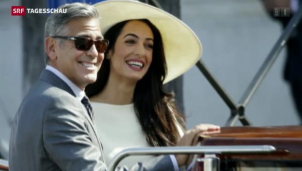 Video «George Clooney ehelicht Amal Alamuddin» abspielen