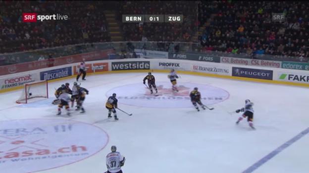 Video «Spielbericht Bern - Zug» abspielen
