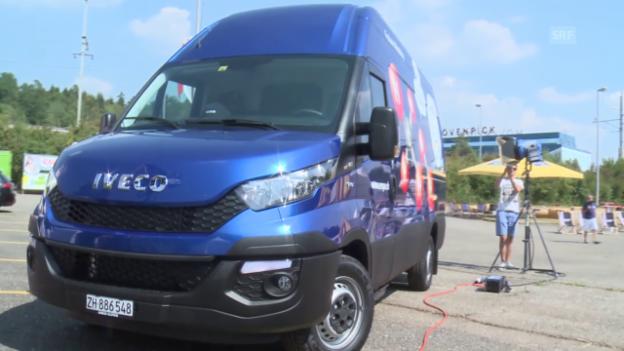 Video «Erdgas/Biogas-Wasserstofflieferwagen» abspielen