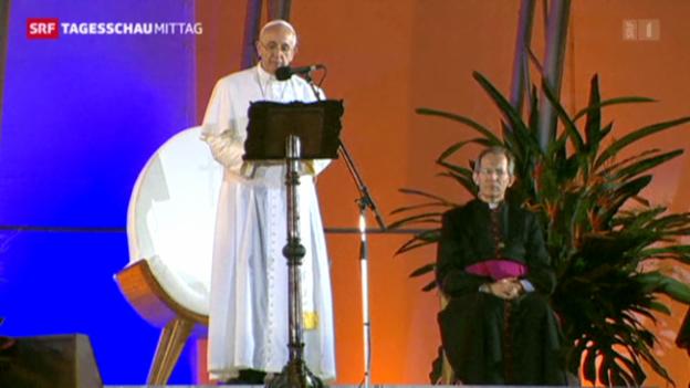Video «Papst fordert mehr Unterstützung für die Armen» abspielen