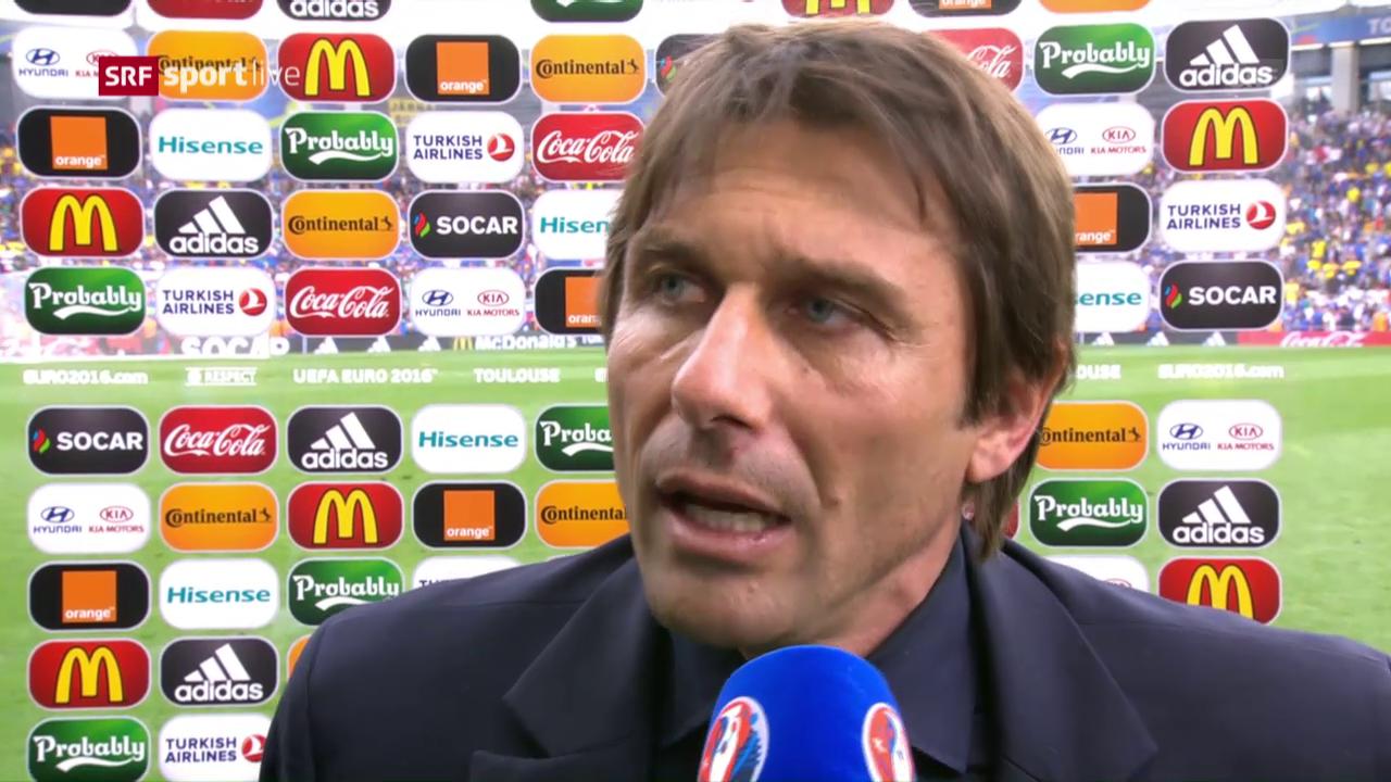 Antonio Conte: «Wir haben nichts zugelassen»