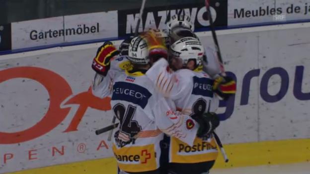 Video «Eishockey: Pascal Bergers frühes Tor («sportlive»)» abspielen