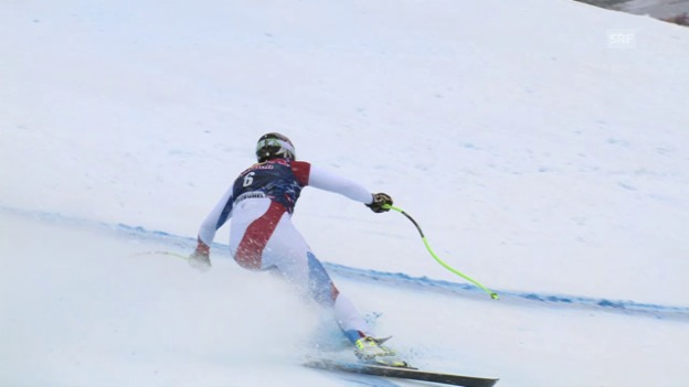 Video «Ski alpin: Weltcup Männer, Abfahrt Kitzbühel, Fahrt Zurbriggen» abspielen