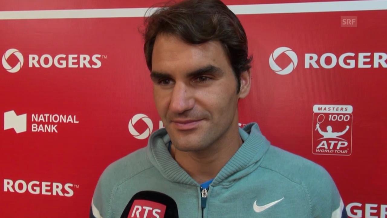Tennis: Federer zum Spiel gegen Ferrer