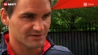 Video «Tennis: Roger Federer vor den US Open» abspielen