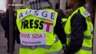 Video «SDA legt Arbeit nieder» abspielen