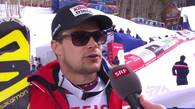 Video «Ski: WM Beaver Creek, Abfahrt Männer, Interview mit Patrick Küng» abspielen