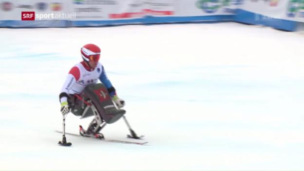 Video «Para-Skifahrer Kunz holt WM-Gold» abspielen