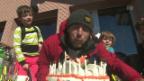 Video «Gian Simmen: 40. Geburtstag im Schnee» abspielen