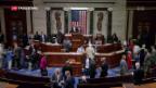 Video «US-Repräsentantenhaus beschliesst neue Russland-Sanktionen» abspielen
