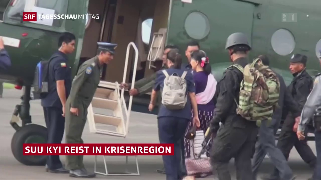 Suu Kyi reist in Krisenregion