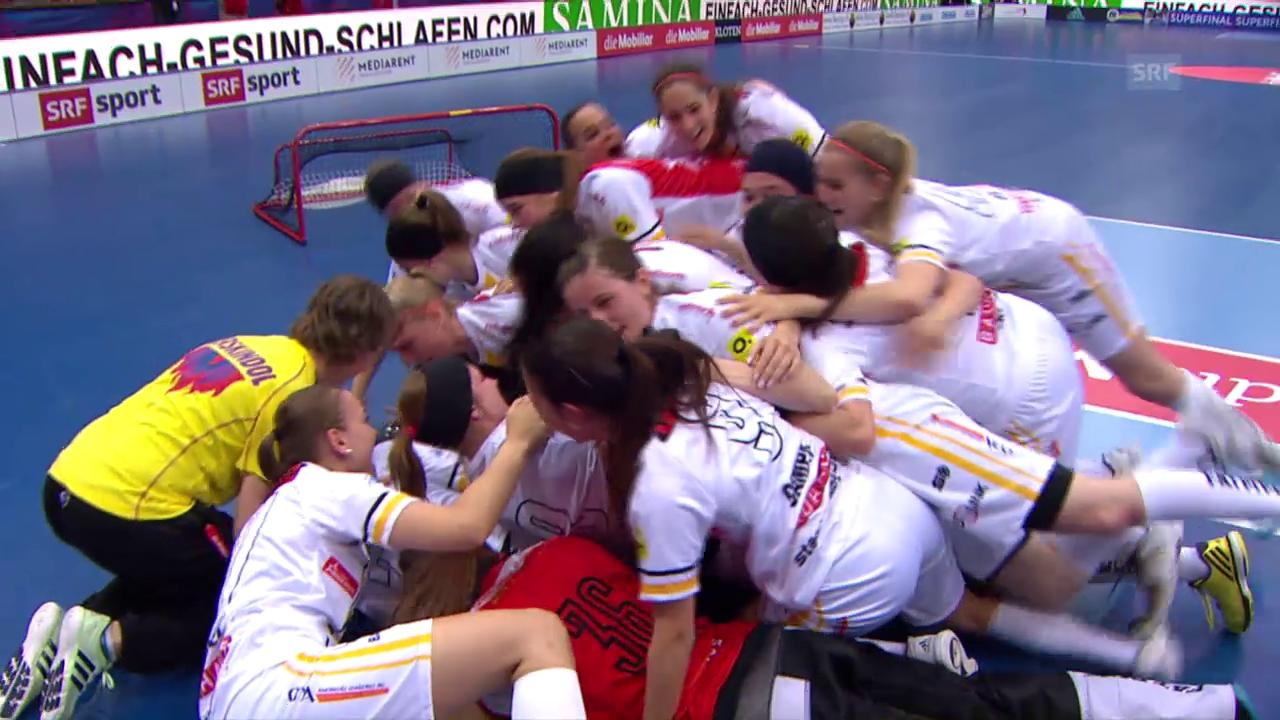 Die Entscheidung im Unihockey-Superfinal der Frauen