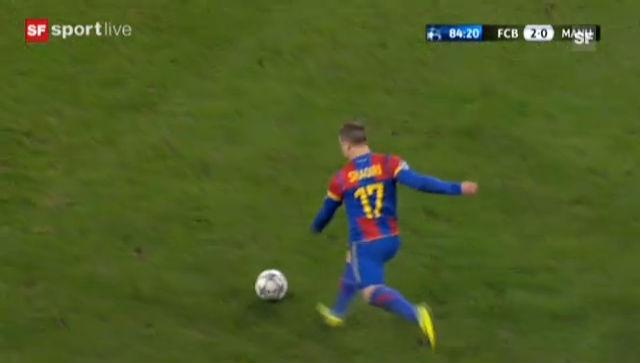 Das 2:0 von Alex Frei in der CL gegen ManU («sportlive vom 7.11.2011)