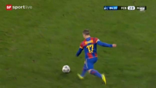 Video «Das 2:0 von Alex Frei in der CL gegen ManU («sportlive vom 7.11.2011)» abspielen