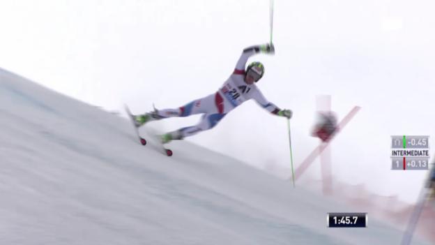 Video «Ski: RS M Sölden, 2. Lauf von Justin Murisier» abspielen