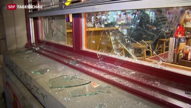 Video «Verletzte und hoher Sachschaden nach Krawallen in Zürich» abspielen