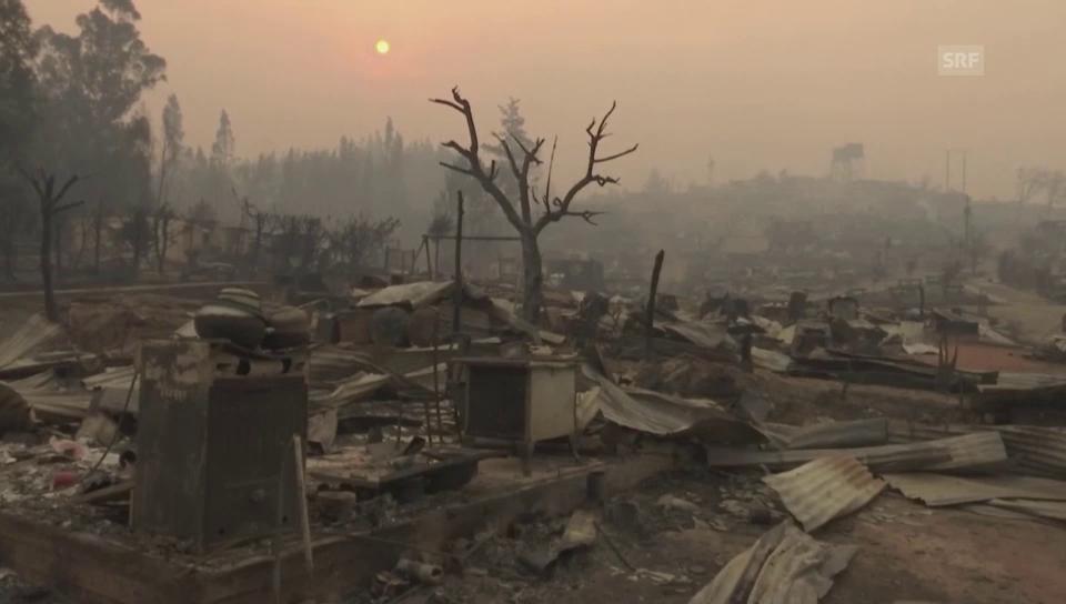 Bilder aus der Stadt Santa Olga nach den Flammen