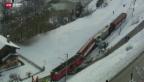 Video «Verletzte bei Zugunglück im Wallis» abspielen