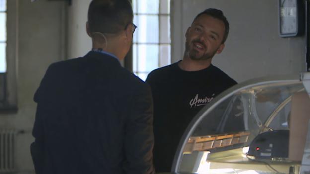 Video ««Focus - Blind Date» Sportmoderator Matthias Hüppi trifft Rapper Greis vom 12.07.2015» abspielen