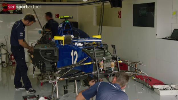 Video «Formel 1: Training zum GP von Silverstone» abspielen
