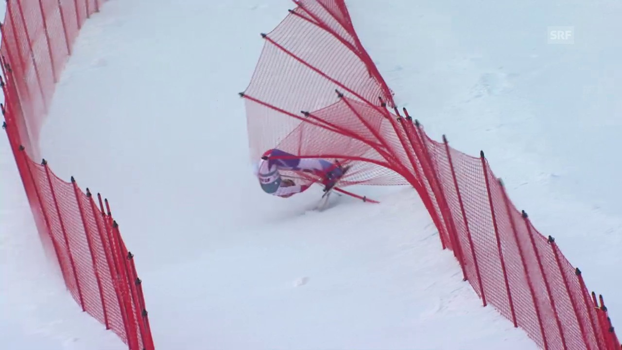 Ski alpin: Weltcup Frauen, Super-G St. Moritz, Sturz Lara Gut