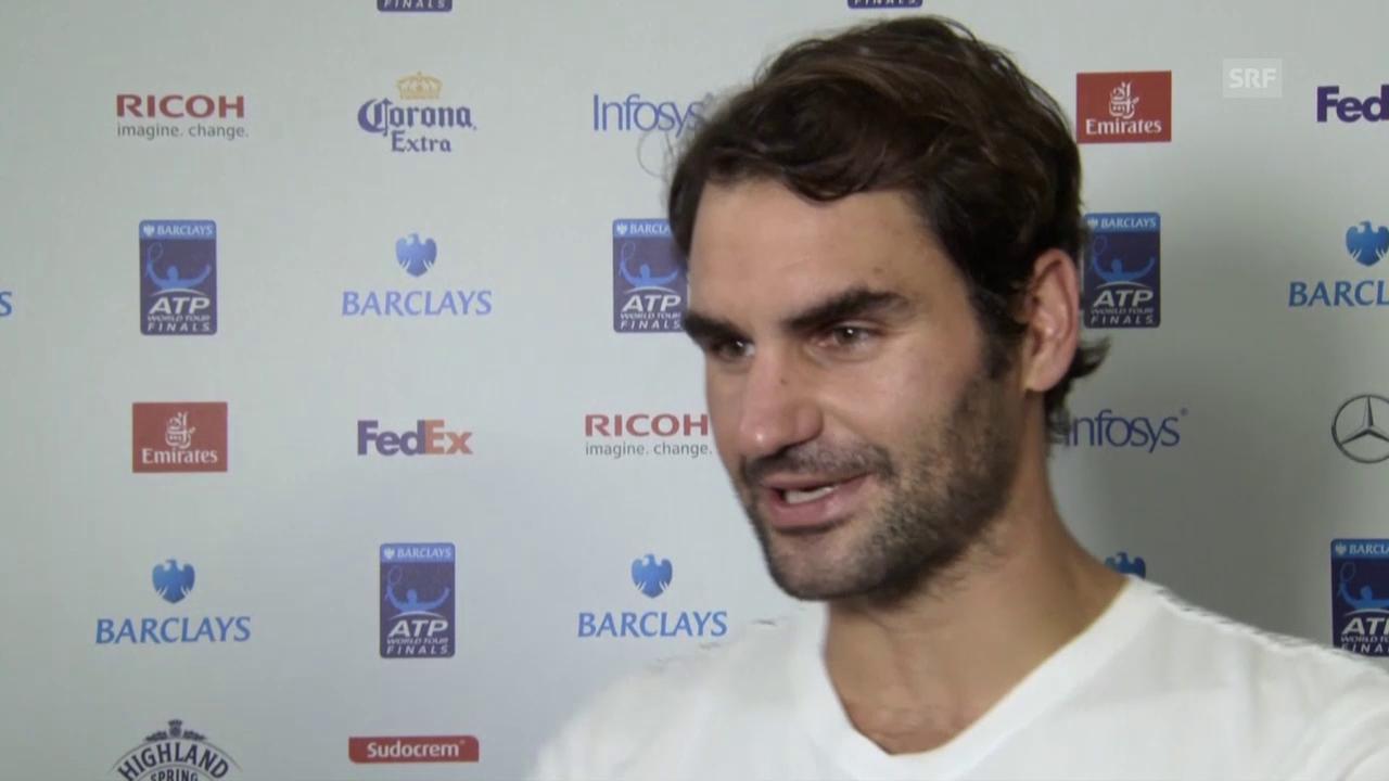 Tennis: ATP Finals, Federer vor Final gegen Djokovic