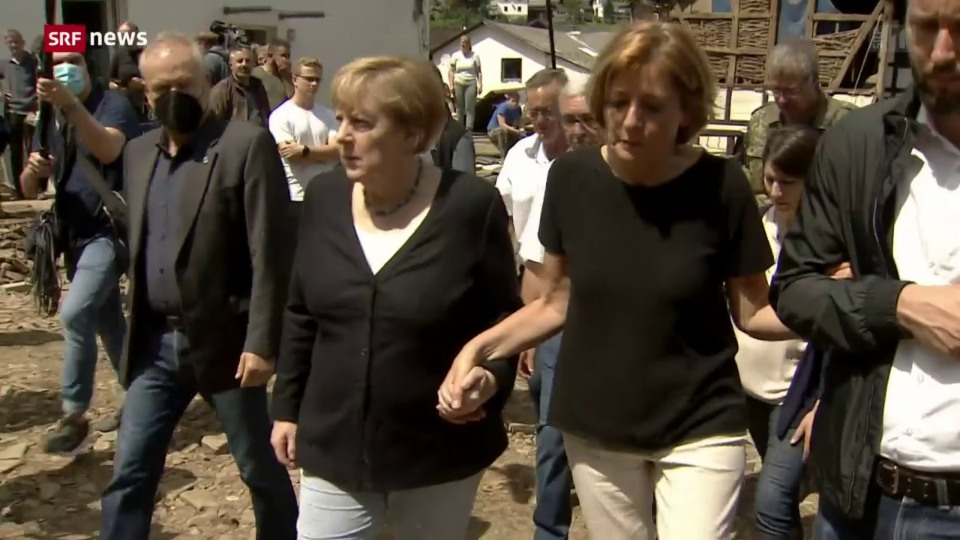 Merkel im Katastrophengebiet