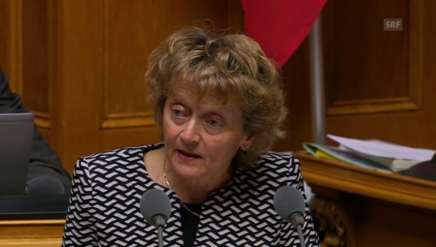 Video «Eveline Widmer-Schlumpf: «Zinspolitik als Kernpunkt»» abspielen