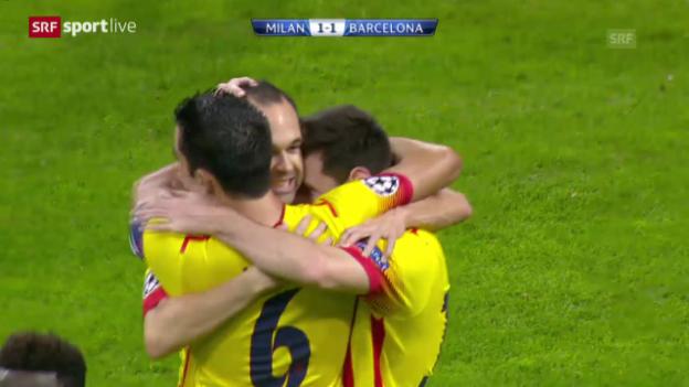 Video «Messis Treffer gegen Milan» abspielen
