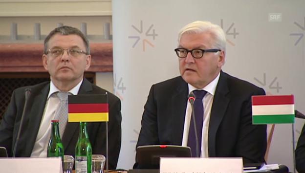 Video «Steinmeier: «Kein ‹Blame Game› unter den Mitgliedstaaten»» abspielen