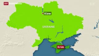 Video «Der neue Mann in der Ukraine sorgt sich um Lage auf der Krim» abspielen
