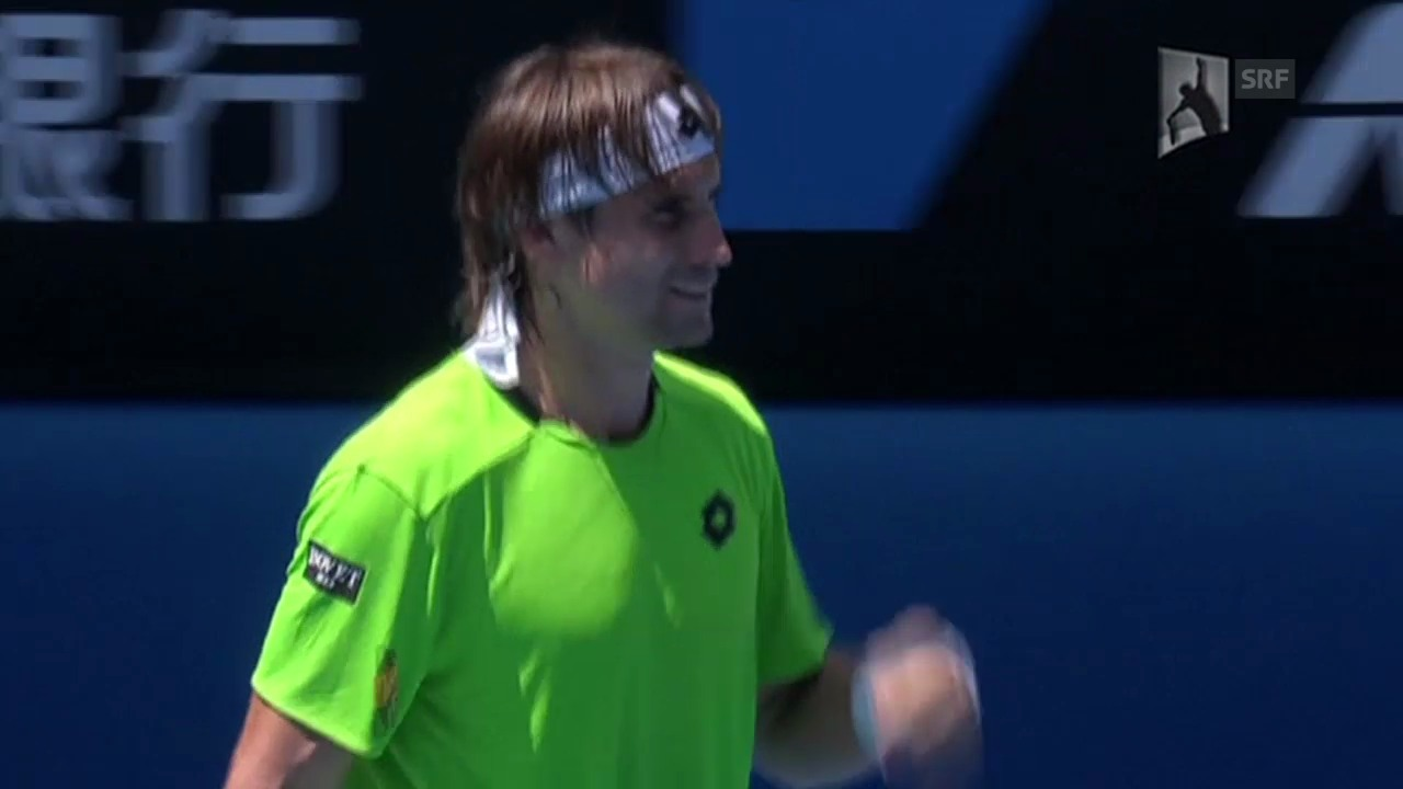 Tennis: Australian Open, 3. Runde, Matchball Ferrer - Chardy