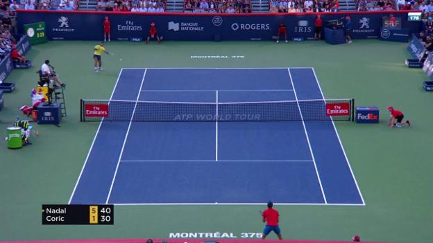 Video «Die besten Punkte bei Nadal - Coric» abspielen