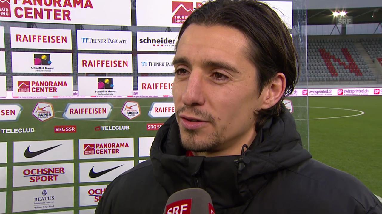 Fussball: Super League, Thun - Zürich, Interview mit Nelson Ferreira