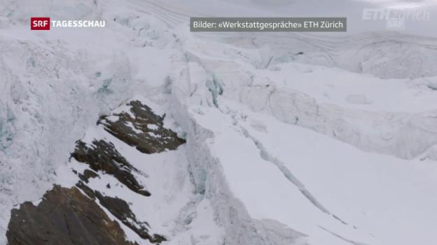 Video «Gletscherabbruch im Wallis» abspielen