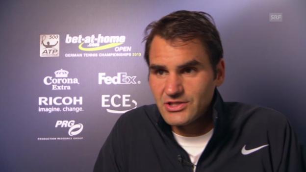 Video «Tennis: Federer über sein neues Racket» abspielen