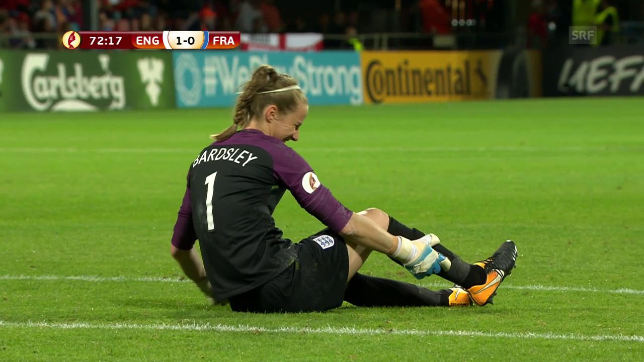 Bardsley verletzt sich im Spiel gegen Frankreich