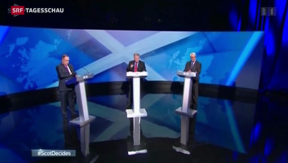 TV-Duell über schottische Unabhängigkeit