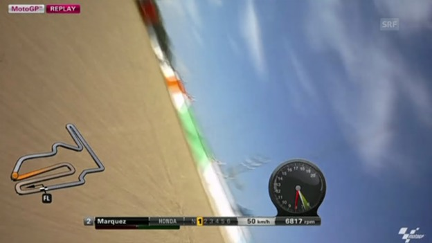 Video «Motorrad: GP Japan, MotoGP-Training, Sturz Marquez» abspielen