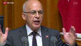 Video «Nationalrat sagt «Ja» zum Gripen-Kauf» abspielen