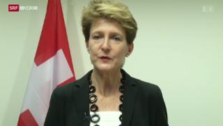 Video «Europas Flüchtlinge: Bundesrätin Sommaruga im Interview» abspielen