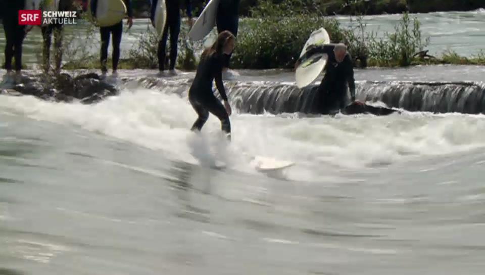 Hochwasser freut Surfer