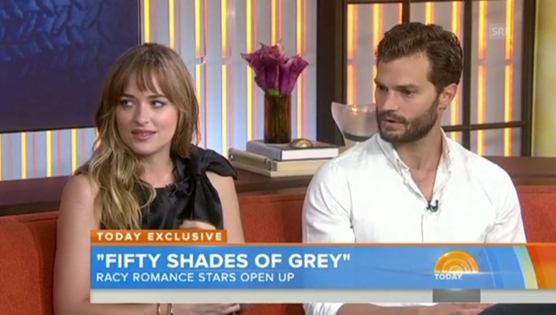 Video «Dakota Johnson und Jamie Dornan über «Fifty Shades of Grey»»» abspielen