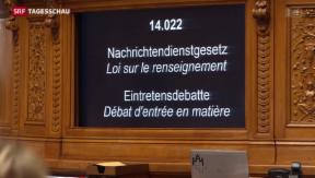 Video «Nationalrat debattiert über neues Nachrichtendienst-Gesetz» abspielen