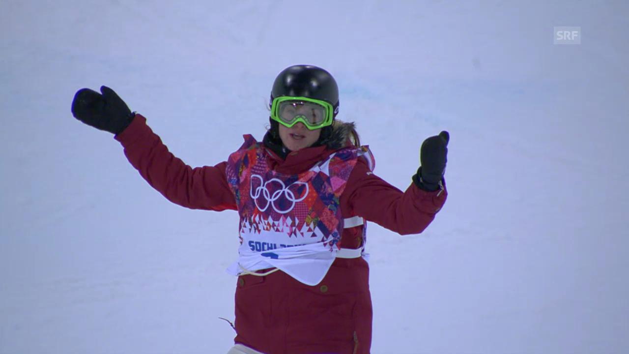 Snowboard Halfpipe: 2. Final-Run Ursina Haller (sotschi direkt, 12.02.2014)