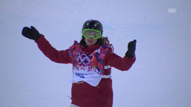 Video «Snowboard Halfpipe: 2. Final-Run Ursina Haller (sotschi direkt, 12.02.2014)» abspielen